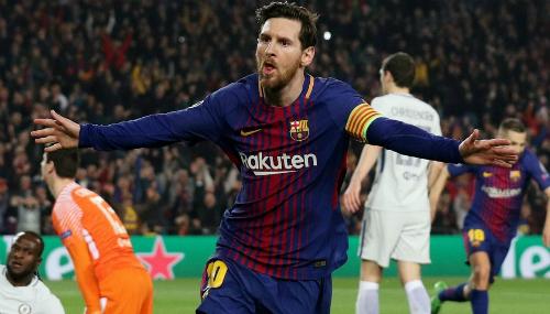 Messi sắp được hưởng lợi nhờ chính tên của mình. Ảnh: Reuters.