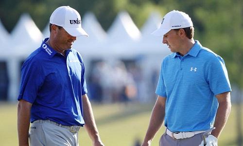 Spieth và Palmer phải dừng cuộc chơi một cách đáng tiếc với sai lầm ở hai hố cuối. Ảnh: PGA.