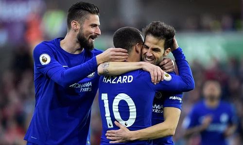 Fabregas có bàn thắng thứ 50 cho Chelsea. Ảnh: Reuters.