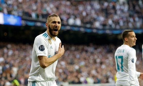 Benzema chỉ ghi hai bàn dù được dự 11 trận bán kết Champions League. Ảnh: Reuters.