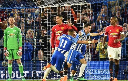 Man Utd thất bại trước Brighton, thành đội thua nhiều nhất top 4