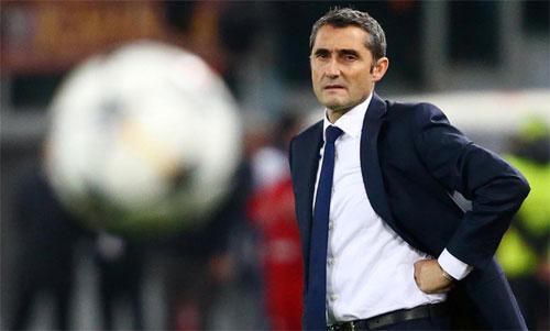 Valverde giành cú đúp nội địa trong mùa đầu dẫn dắt Barca. Ảnh: Reuters