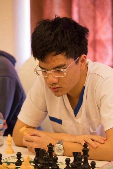 Kỳ thủ trẻ Anh Khôi đoạt HC đồng cờ nhanh toàn quốc. Ảnh: Lâm Minh Châu.