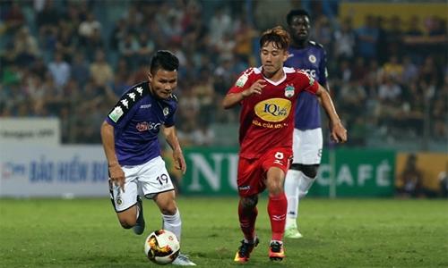 Chiến thắng đậm 5-0 tại V-League đầu mùa này có thể sẽ tiếp thêm tự tin để Hà Nội xóa dớp toàn thua khi lên Pleiku làm khách của HAGL ba năm qua. Ảnh: Lâm Thỏa.