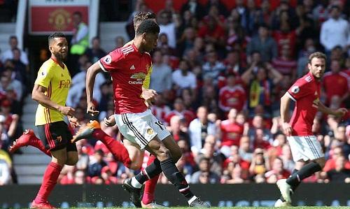 Rashford đệm bóng vào lưới trống sau đường chuyền dọn cỗ của Mata. Ảnh: Man Utd.