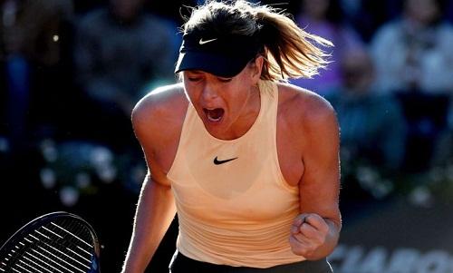 Sharapova khởi đầu suôn sẻ tại Rome, tiếp tục thể hiện phong độ tốt ở các giải sân đất nện. Ảnh: AFP.