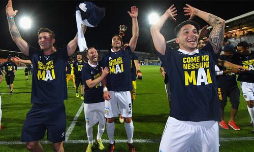 Parma ba năm liền thăng hạng, trở lại Serie A - Thể Thao