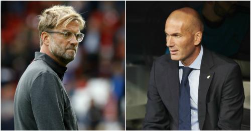 Zidane (trái) được ví như chân mệnh thiên tử khi các vinh quang lần lượt tới với ông. Trong khi đó, Klopp thích những đội bóng gặp khó khăn và được ví như Robin Hood của bóng đá.