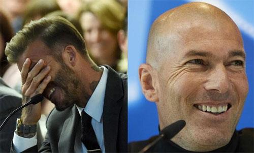 Beckham cầu chúc cho Zidane và Real chiến thắng.