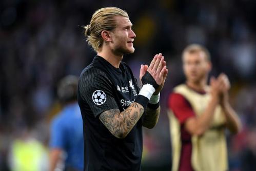 Thủ môn Karius khóc nức nở sau trận đấu. Ảnh: AFP.