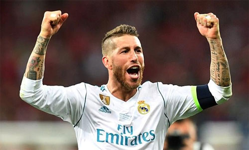 Ramos không phải nhận thẻ nào trong trận chung kết. Ảnh: Reuters