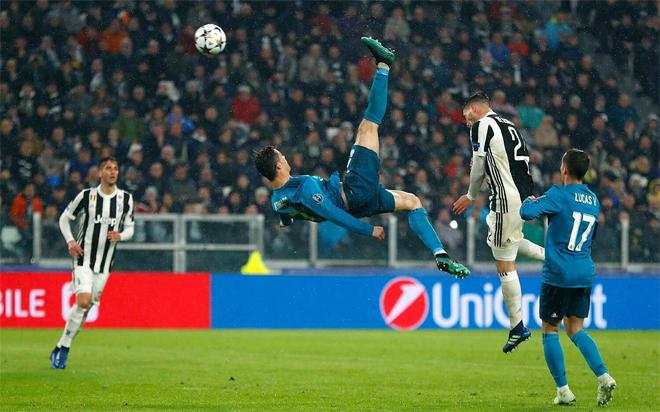 Messi vắng mặt, Ronaldo dẫn đầu top 10 bàn đẹp Champions League