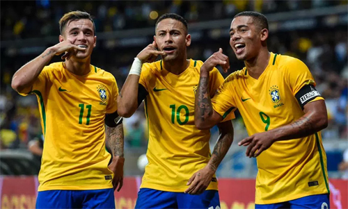 Brazil đang sở hữu những cầu thủ thuộc dạng hay nhất. Ảnh: Reuters