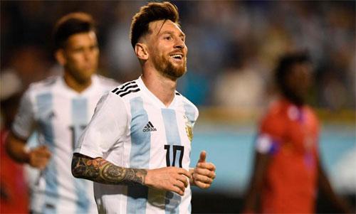 Argentina không gặp mấy khó khăn để thắng Haiti. Ảnh: Reuters