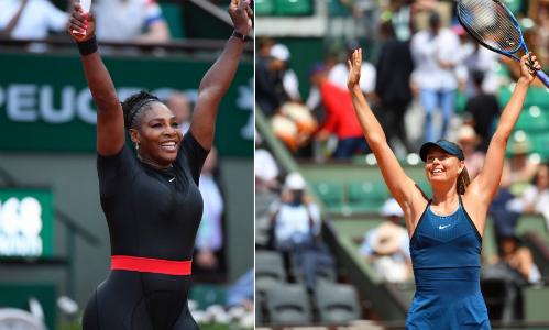 Serena có đối đầu áp đảo Sharapova. Ảnh: RG.