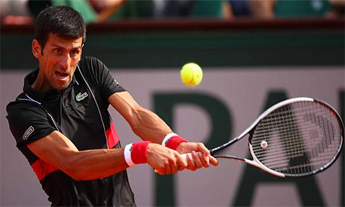 Djokovic làm chủ hoàn toàn trận đấu với Verdasco tại vòng bốn. Ảnh: AP.