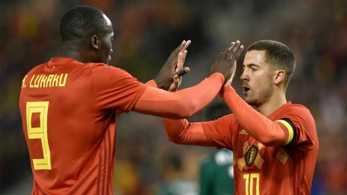 Hazard và Lukaku sẽ là cặp tiền đạo chính của Bỉ. Ảnh: AFP.