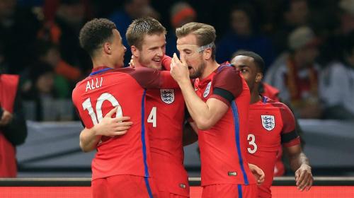 Dele Alli, Eric Dier, Harry Kane và Danny Rose trong màu áo tuyển Anh. Ảnh: AFP.