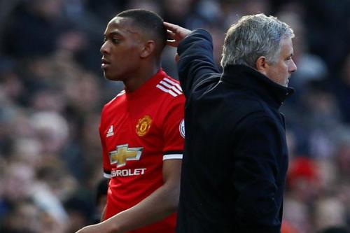 Martial đã không phát triển như sự kỳ vọng dưới thời HLV Mourinho. Ảnh: AFP.