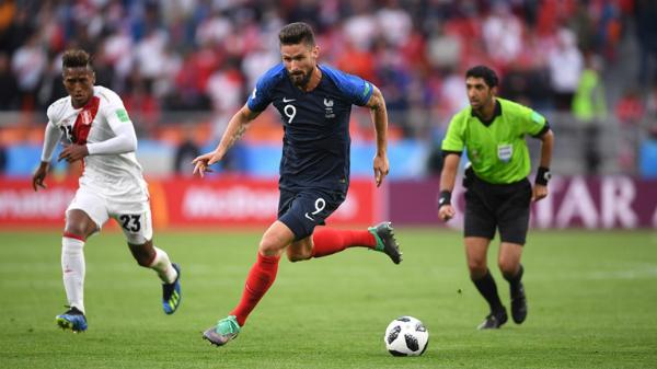 Giroud có thể là quân bài chiến lược của Pháp trong chặng đường sắp tới tại World Cup 2018. Ảnh:FIFA.