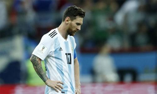 图片来源:路透社。梅西在2018年世界杯上没有任何进球和传球