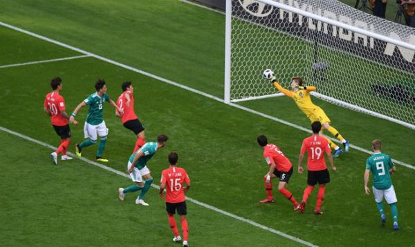 Pha cản phá xuất sắc của Cho Huyn-woo là một trong những điểm nhấn của trận đấu. Ảnh:FIFA.