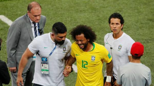 Marcelo nhiều khả năng phải chia tay World Cup. Ảnh: Reuters.