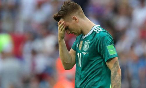 Đức đến World Cup 2018 với tư cách một trong những ứng cử viên hàng đầu trước khi sớm phải ra về. Ảnh: Reuters