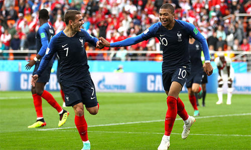 Khả năng tiến xa của Pháp tại World Cup 2018 sẽ phụ thuộc phần nhiều vào những Griezmann, Mbappe.
