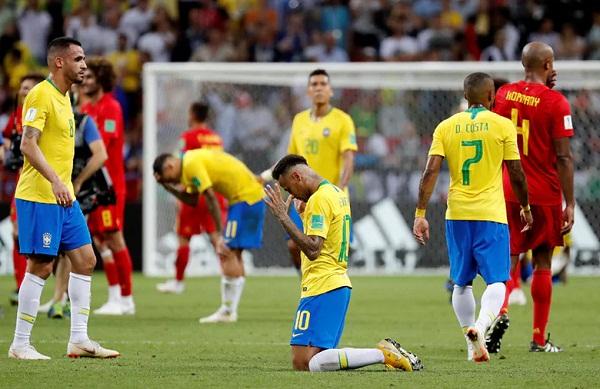 Brazil là đại diện cuối cùng của Nam Mỹ dừng bước ở World Cup 2018. Ảnh: Reuters.