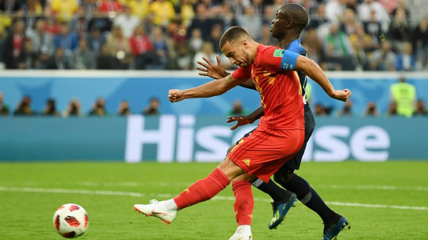 Bỉ khởi đầu trận đấu đầy khí thế với những cơ hội liên tiếp dành cho Eden Hazard. Ảnh: FIFA.