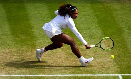 Serena đứng trước thời cơ giành chức vô địch thứ tám ở Wimbledon. Ảnh: Sky Sports.