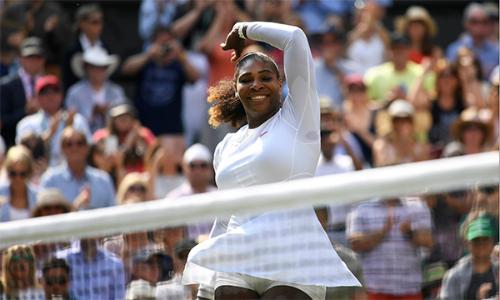 Serena gia tăng thành tích tại bán kết Wimbledon lên thành 10 thắng và một thua. Ảnh: Sky Sports.