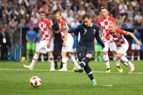 Griezmann ghi bàn thắng đưa Pháp vươn lên dẫn 2-1. Ảnh:FIFA.