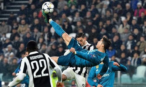 Pha móc bóng ghi bàn vào lưới Juventus khiến Ronaldo được CLB Italy để ý. Ảnh: Reuters.