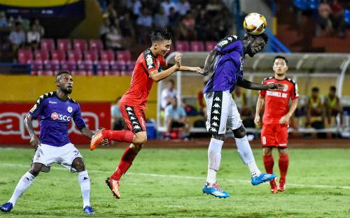 Hà Nội thi đấu không thực sự thăng hoa ở Cup Quốc gia, như cách họ đang thể hiện ở V-League. Ảnh: Giang Huy.