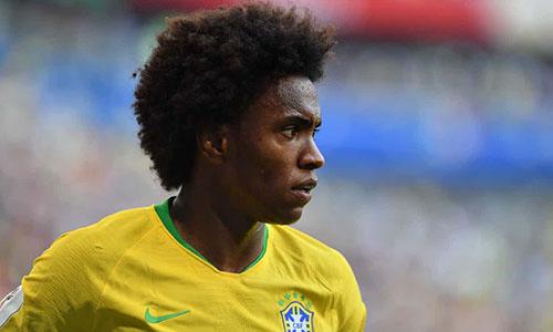 Willian thường xuyên đá chính trong đội hình Brazil ở World Cup 2018. Ảnh: AP.