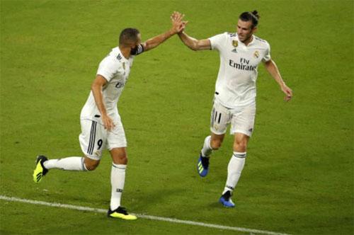 Bale và Benzema một lần nữa đóng vai trò quyết định trên hàng công.
