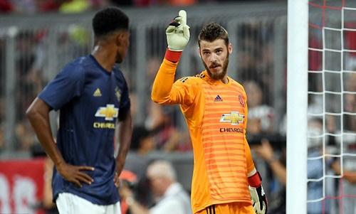 De Gea tiếp tục là người chơi năng nổ nhất của Man Utd. Ảnh: Reuters.