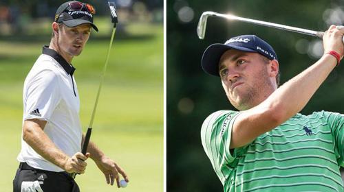 Justin Rose (trái) và Justin Thomas có cơ hội lên đỉnh thế giới nếu chơi thăng hoa tại PGA Championship.