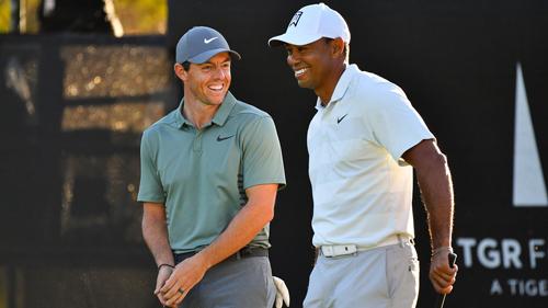 McIlroy và Woods là những người bạn thân bên ngoài sân. Cả hai thường tập cùng nhau trước các giải đấu lớn. Ảnh: Golf Channel.