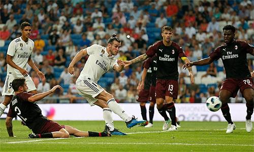 Bale (giữa), Benzema (trái) đang gánh trách nhiệm ghi bàn cho Real khi không còn Ronaldo.