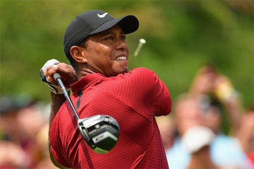 Woods chơi ấn tượng với 64 gậy ở vòng hạ màn PGA Championship nhưng không đủ để bắt kịp Brooks Koepka. Ảnh: PGA.