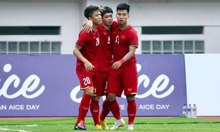 Việt Nam dự Asiad 2018 với nòng cốt là đội U23 đoạt HC bạc giải châu Á hồi đầu năm. Ảnh:
