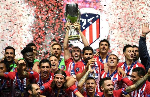 Atletico giành ba Siêu Cup châu Âu trong vòng tám năm.