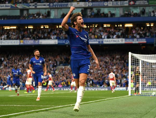 Alonso mừng bàn ấn định tỷ số vào lưới Arsenal. Ảnh: SkySport.