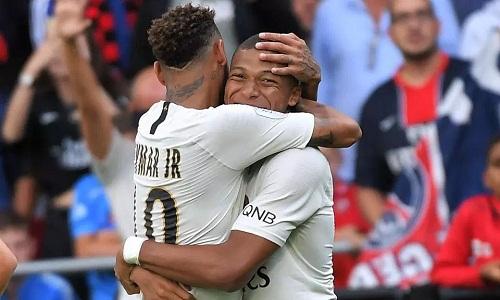 Mbappe ghi hai bàn trong 10 phút cuối, giúp PSG chiến thắng. Ảnh: Licensors.