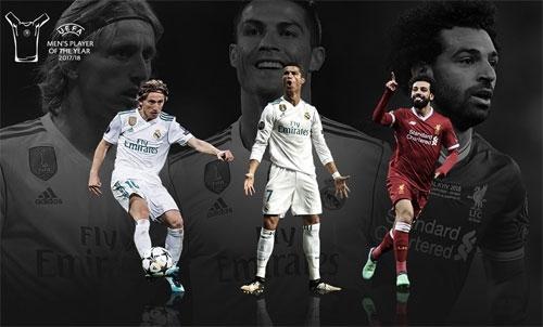 Một trong ba ngôi sao sẽ là người chiến thắng giải thưởng của UEFA.