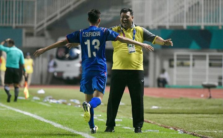 Supachai là cầu thủ Thái Lan duy nhất ghi bàn ở Asiad 2018.