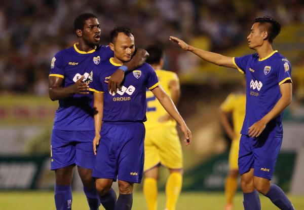 Thanh Hóa thắng thuyết phục trên sân Vinh, giành vé vào chung kết Cup Quốc gia - Sư tử trắng. Ảnh: Quang Minh